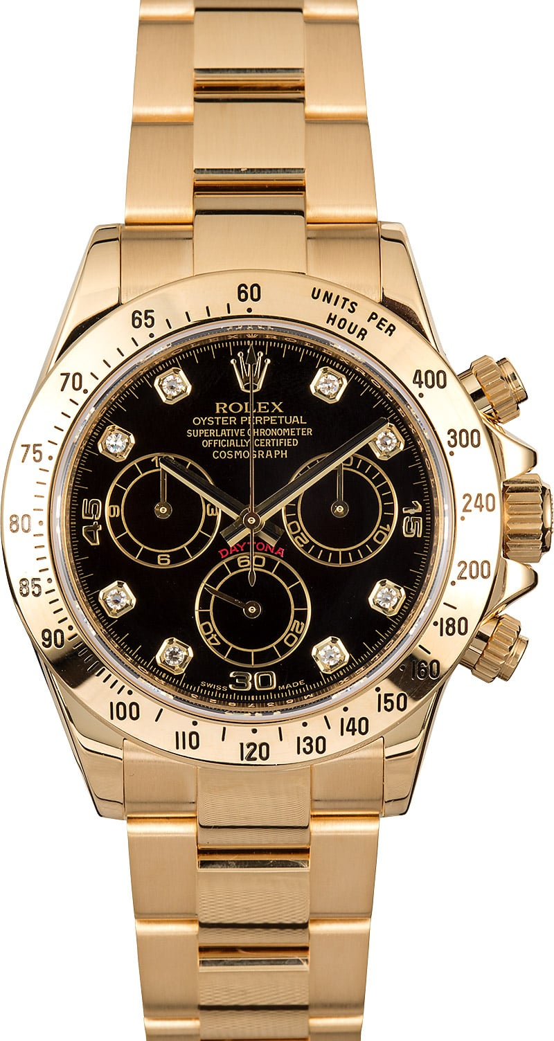 Rolex daytona cosmograph 116528 diamond dial for Rolex cosmograph daytona