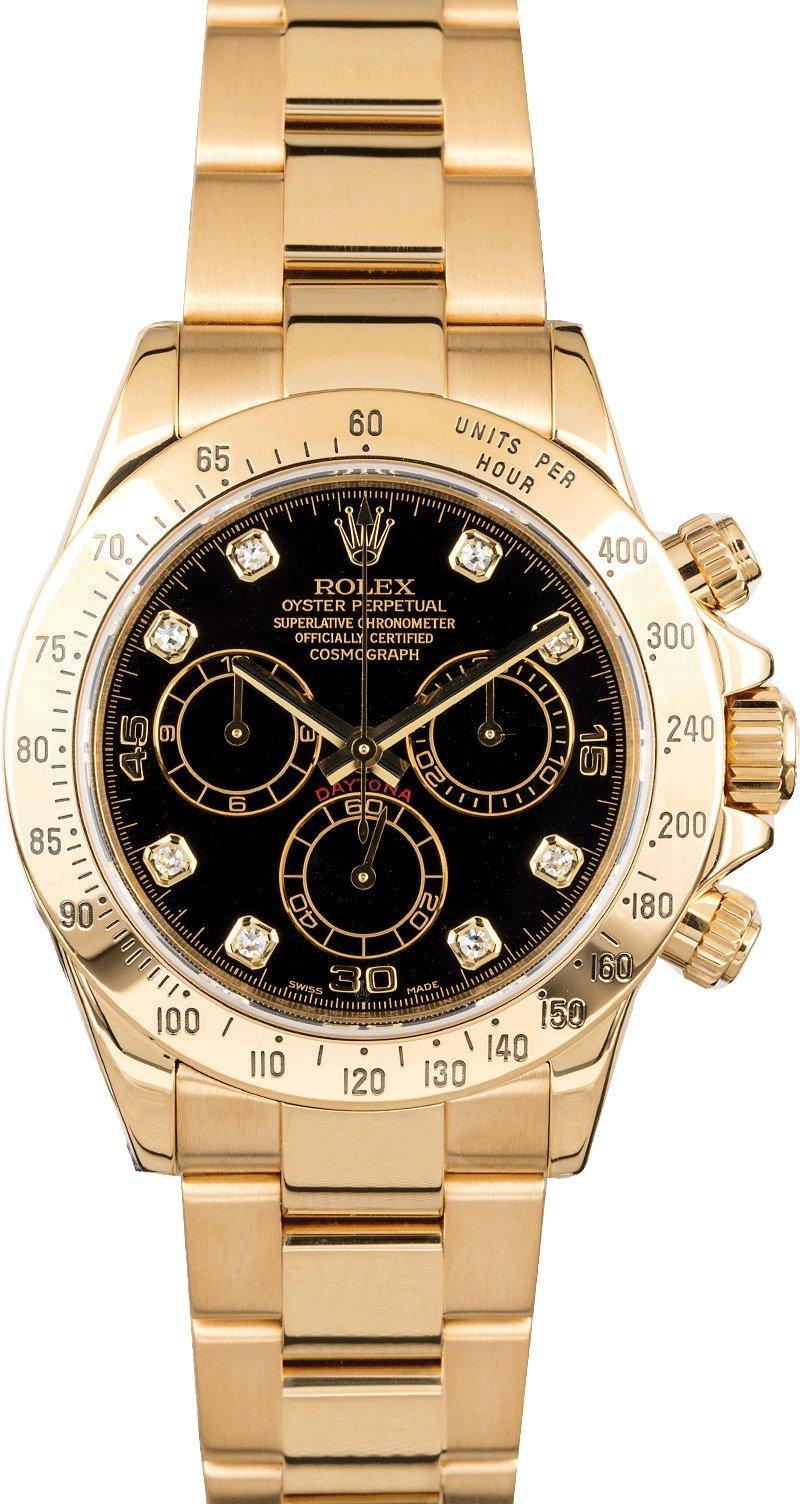 Rolex daytona cosmograph 116528 with diamonds for Rolex cosmograph daytona