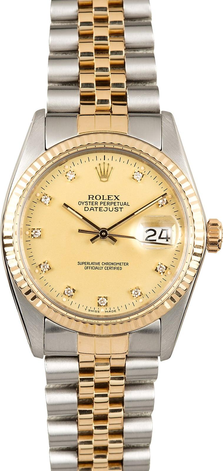 Rolex Diamond Dial Datejust 16013