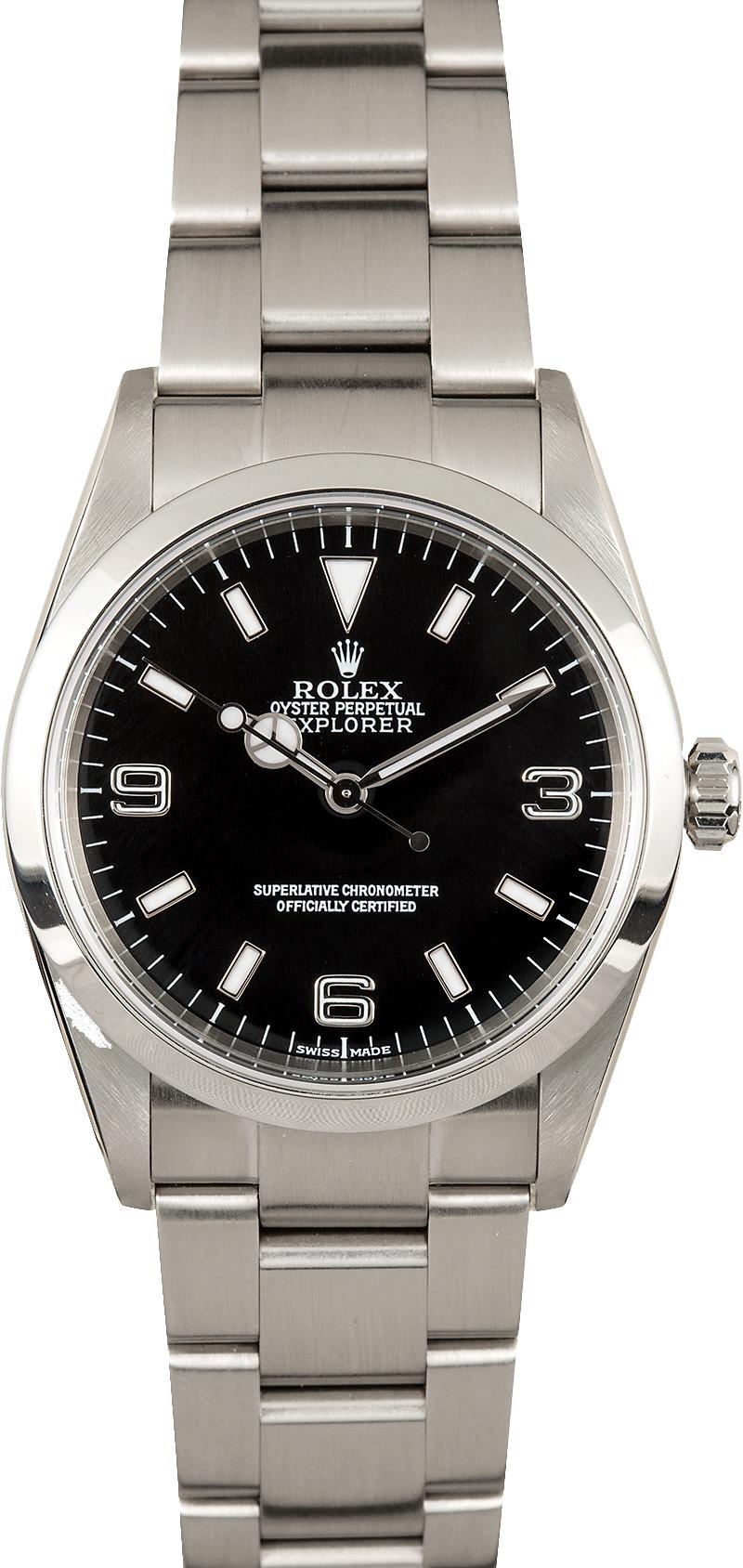 Rolex explorer i 114270 steel 100 authentic for Rolex explorer