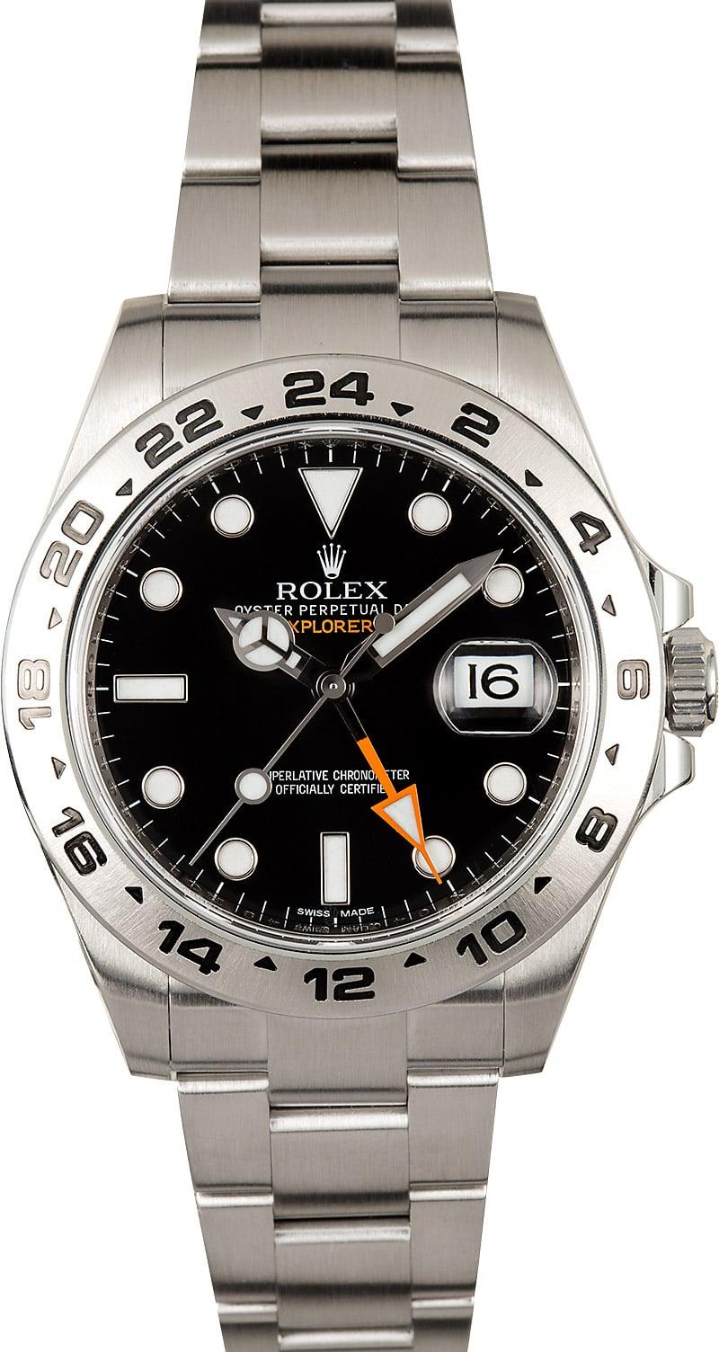 Rolex explorer 2 black dial 216570 for Rolex explorer