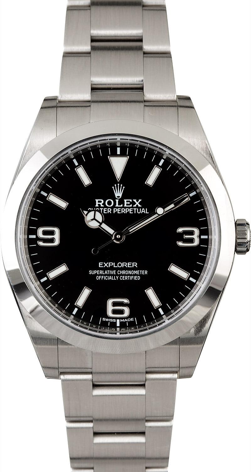 Rolex explorer 214270 mark ii luminescent dial for Rolex explorer
