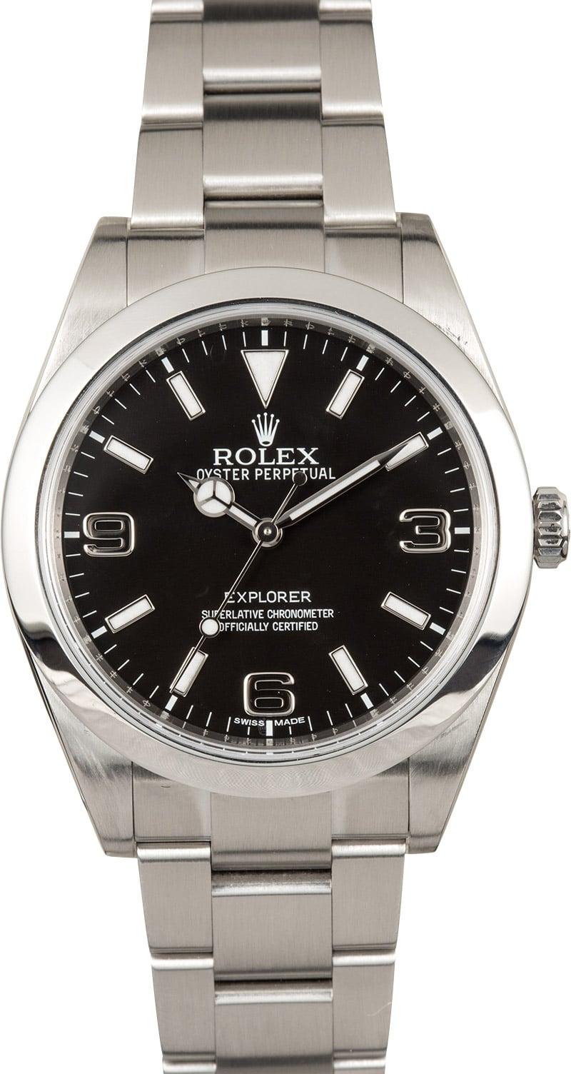 Rolex explorer i 214270 39mm for Rolex explorer