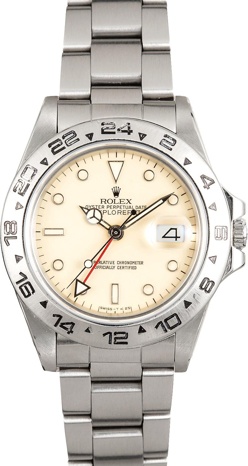 Rolex explorer ii cream dial 16550 for Rolex explorer