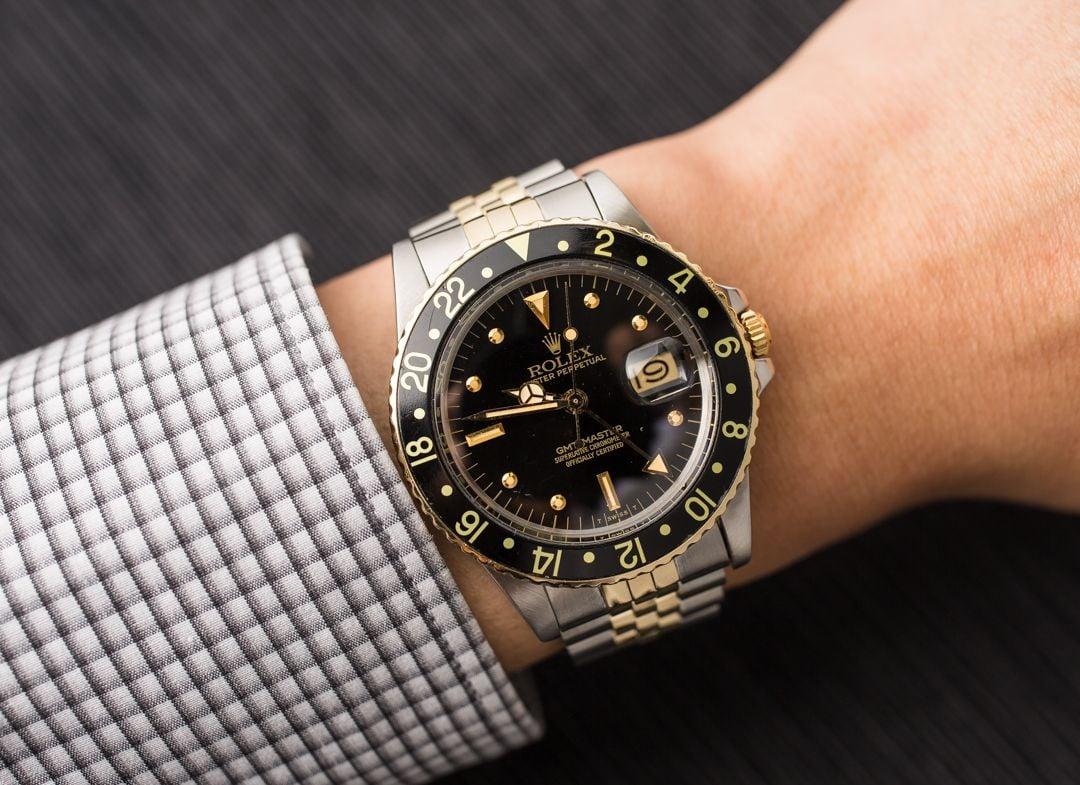 GMT: Men's Rolex GMT-Master 16753 Jubilee Bracelet