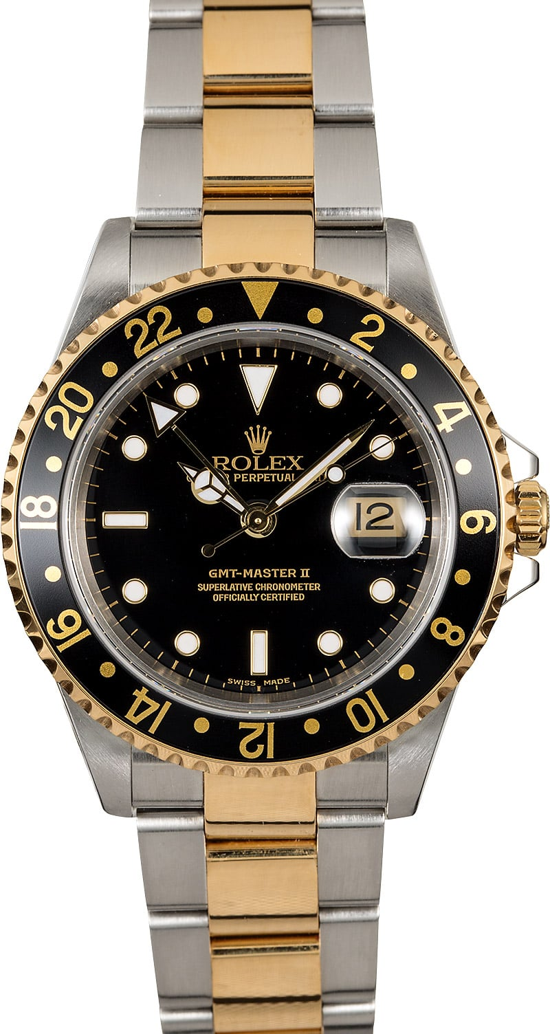 Rolex gmt master ii ref 16713 two tone oyster for Rolex gmt master