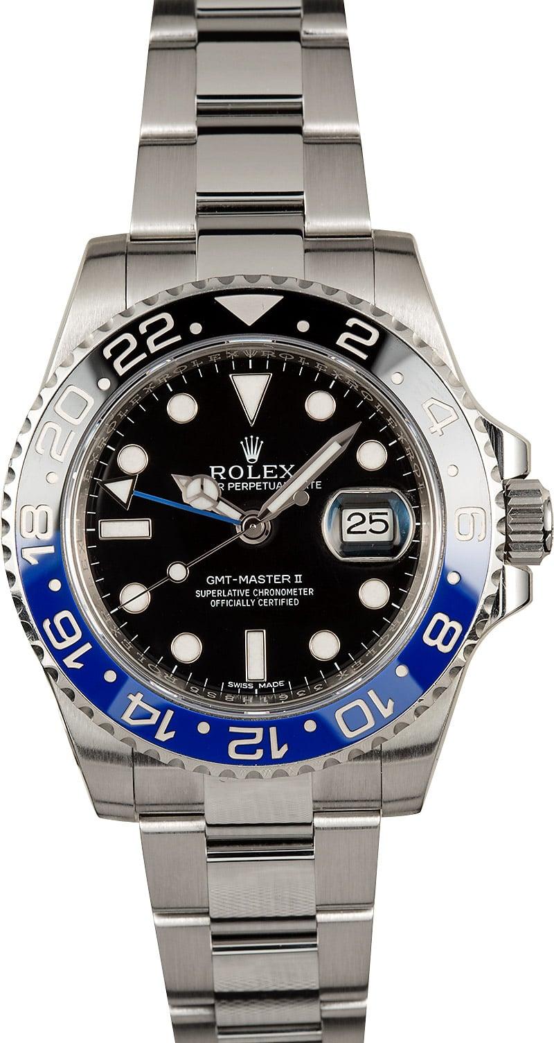 Rolex gmt master 116710bl batman for Rolex gmt master