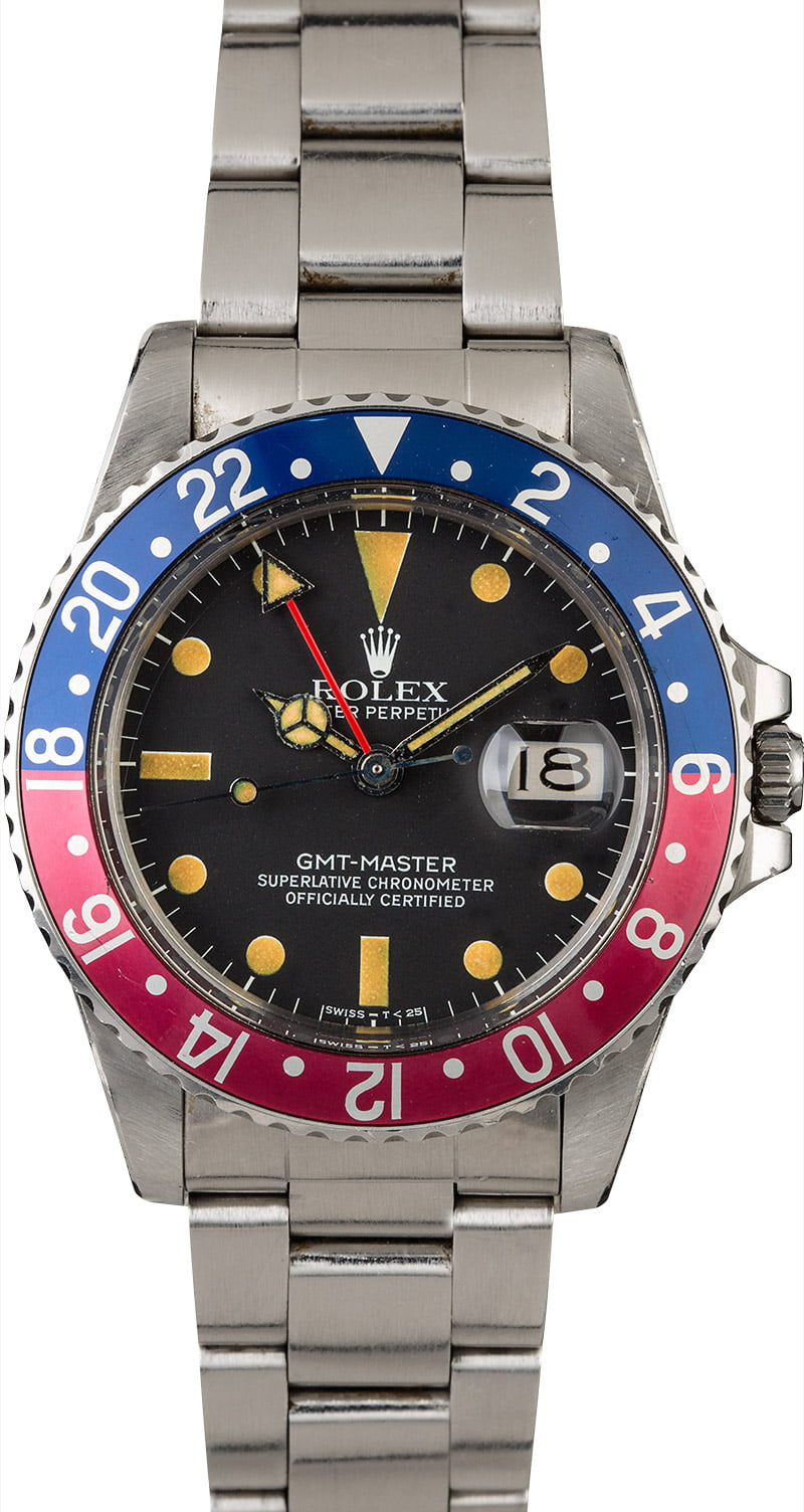 Vintage rolex gmt master 16750 pepsi for Rolex gmt master