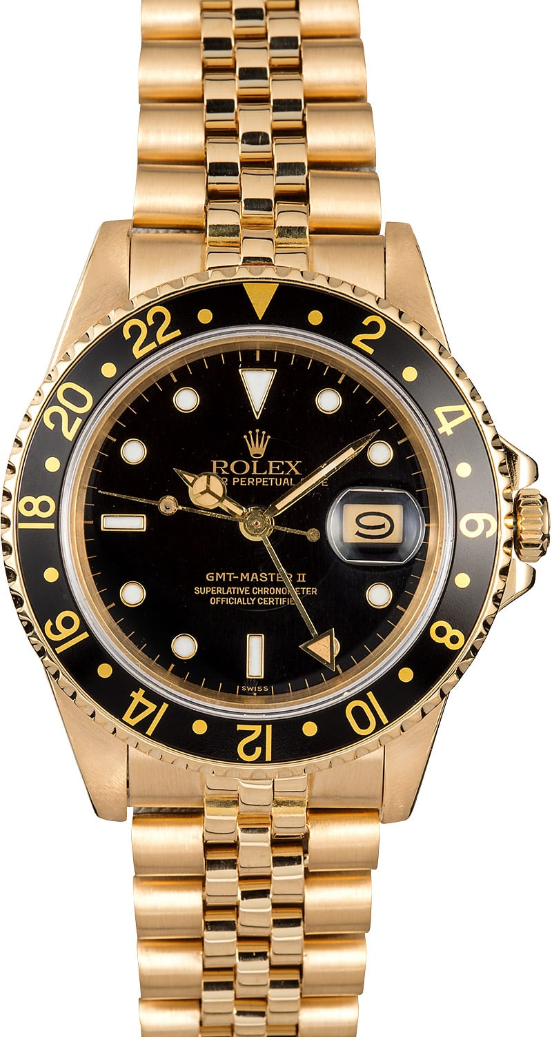Rolex gmt master 16758 yellow gold for Rolex gmt master