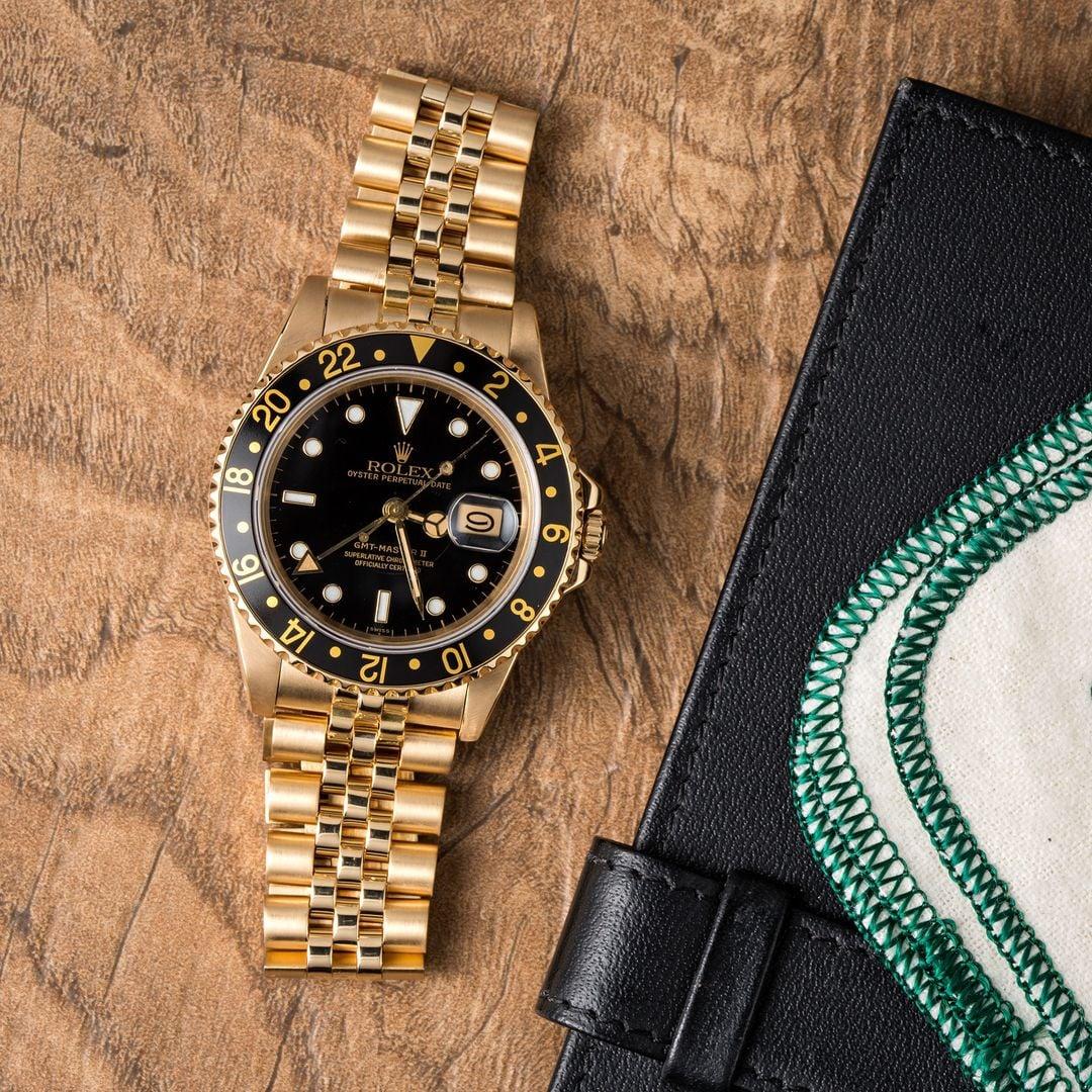 Rolex GMT-Master 16758 Yellow Gold