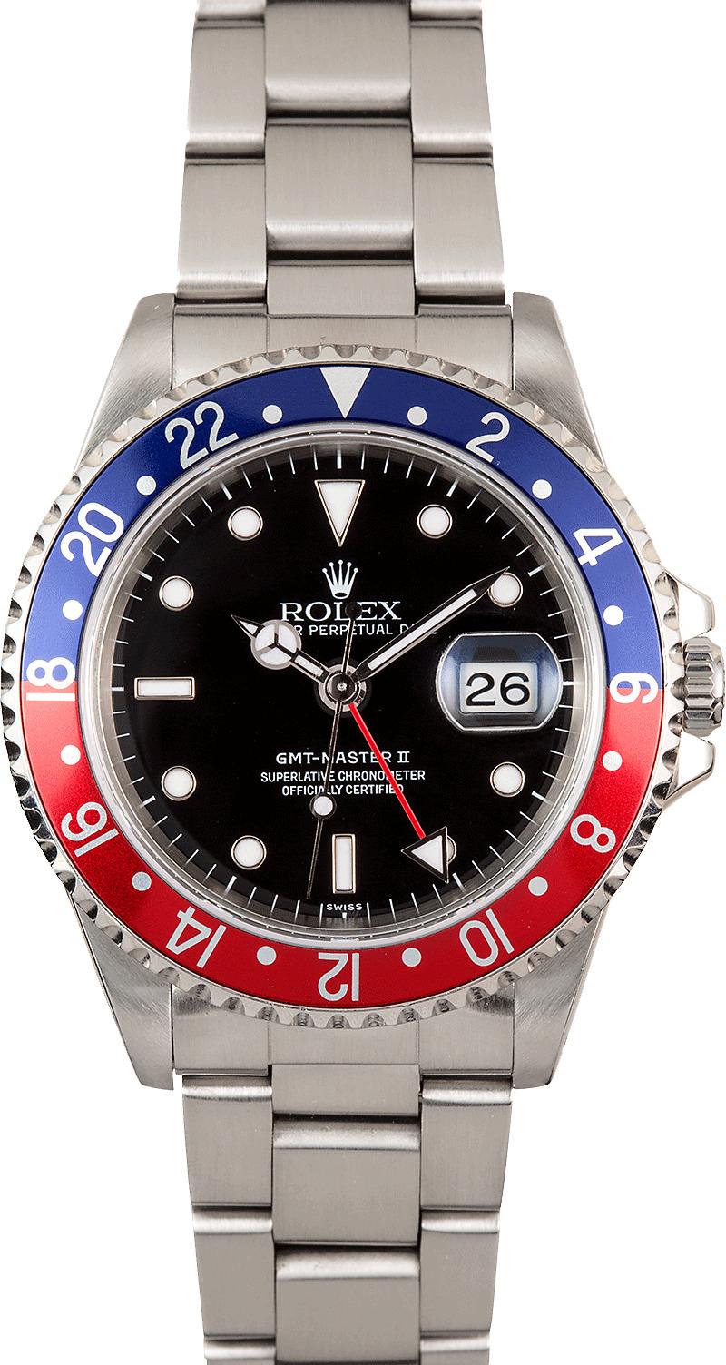 Rolex GMT Master 2 Pepsi Bezel 16710 Steel