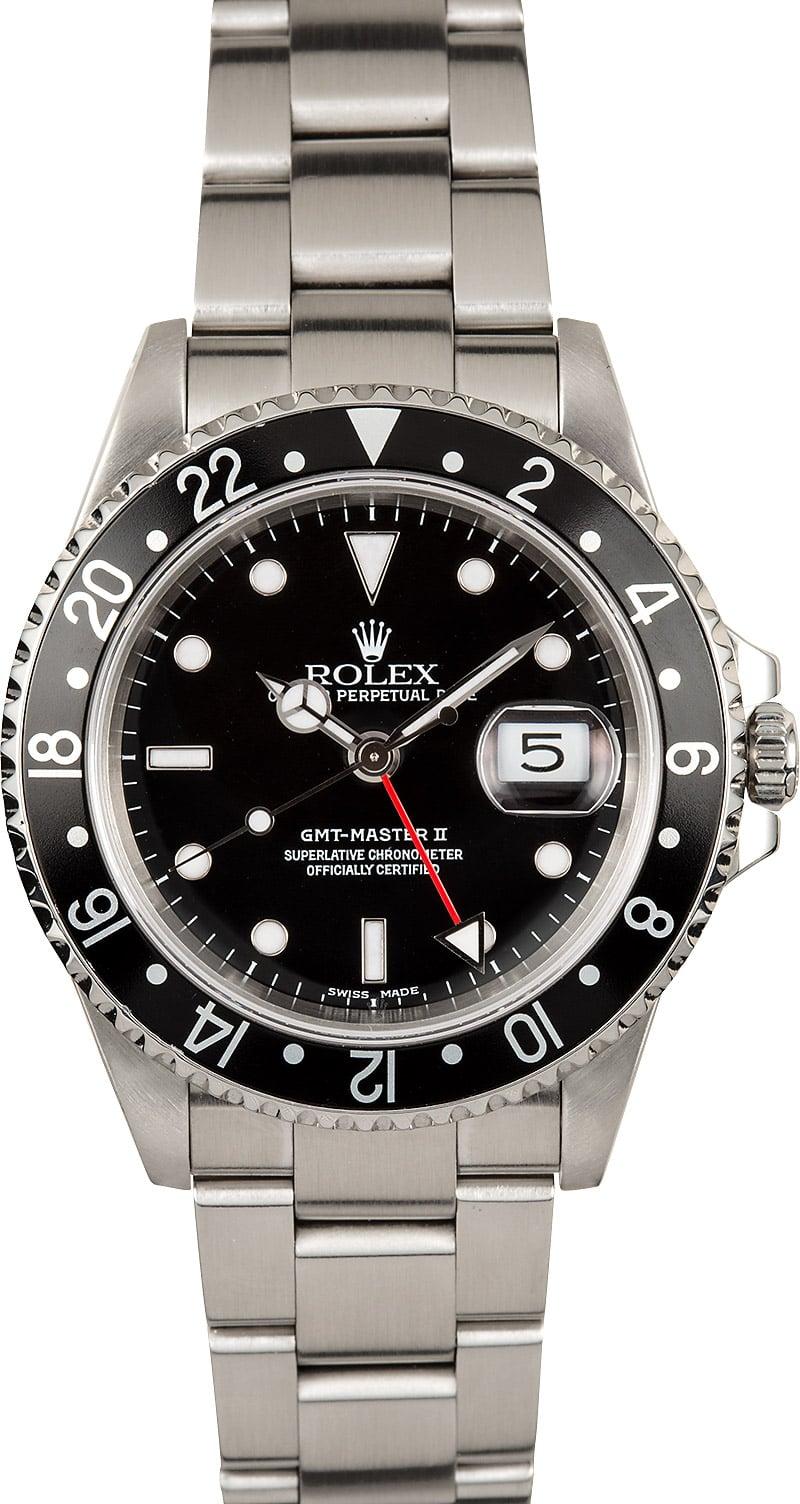 Rolex Gmt 2 >> Rolex GMT-Master II 16710 Black Bezel