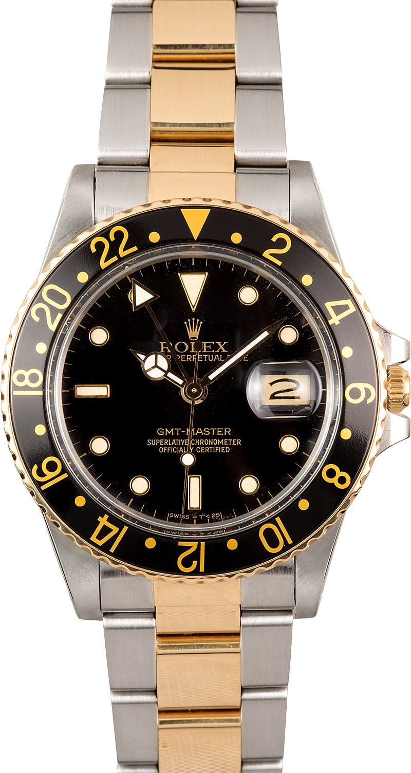 Certified Pre Owned >> Rolex GMT-Master II 16753 Oyster