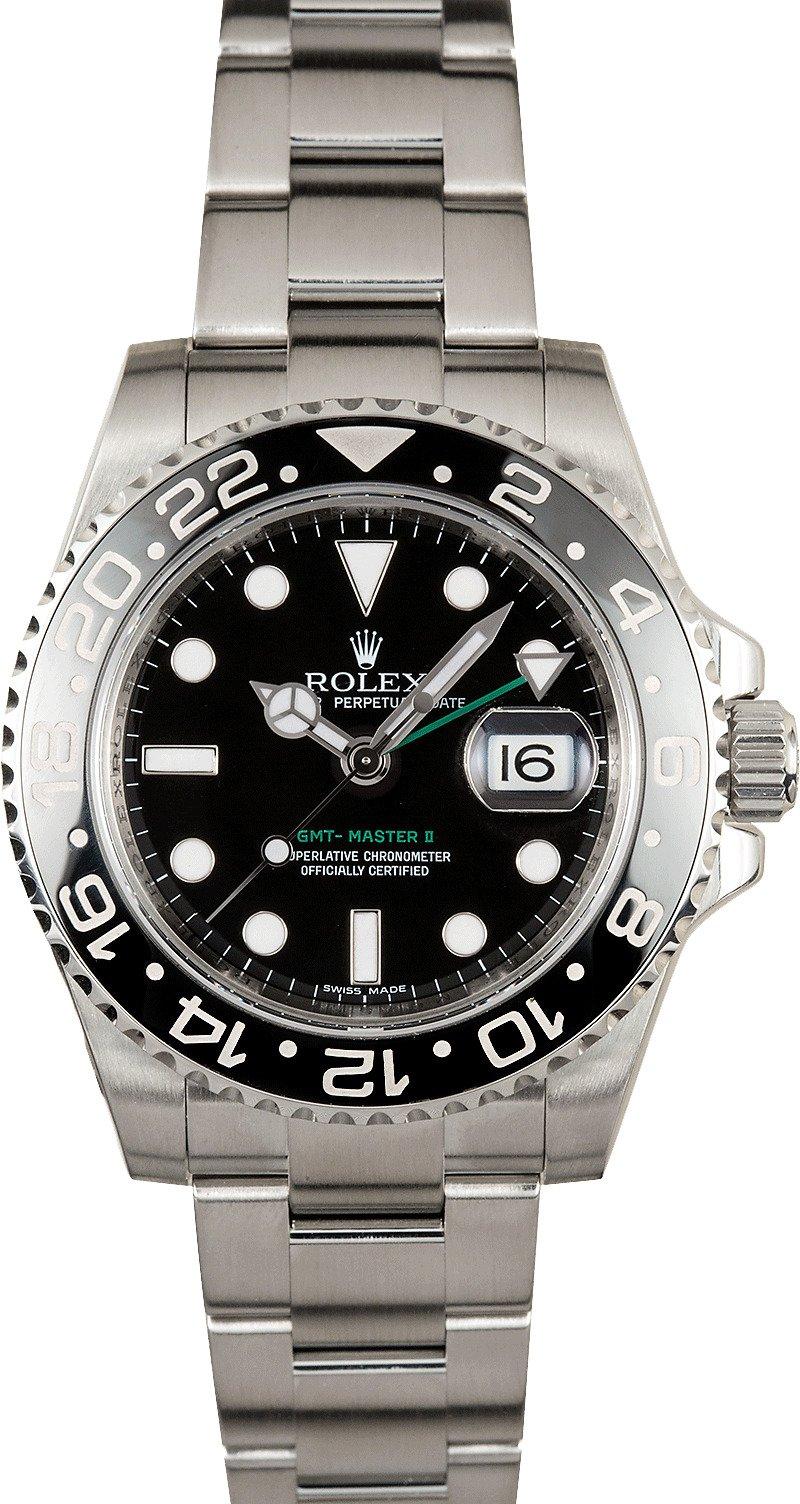 Used Rolex Submariner >> Rolex GMT Master II Black 116710 Green GMT Hand