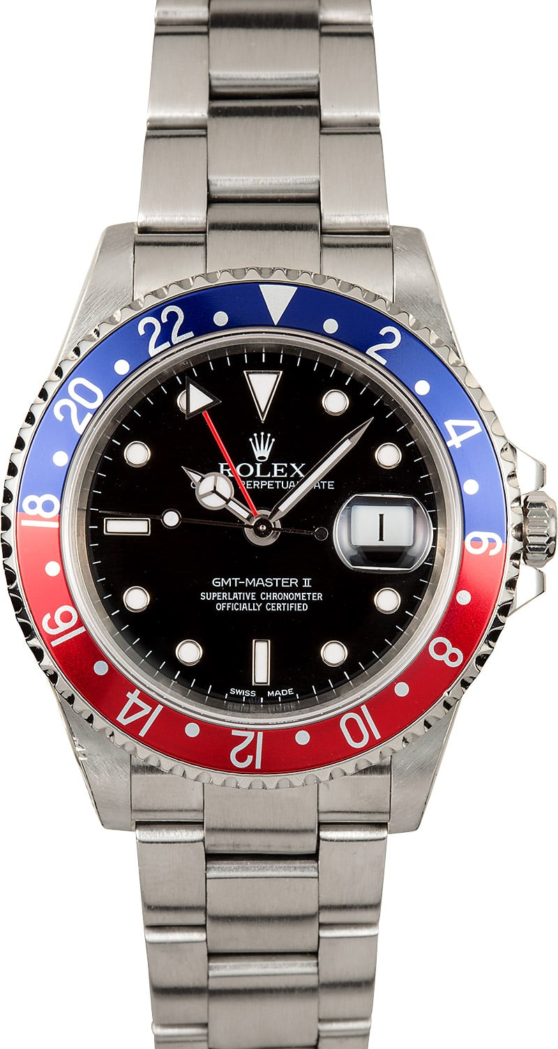Used Breitling Watches >> Rolex GMT-Master II Model 16710