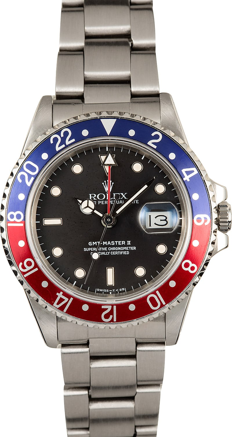 Rolex gmt master ii pepsi fat lady 16760 for Rolex gmt master