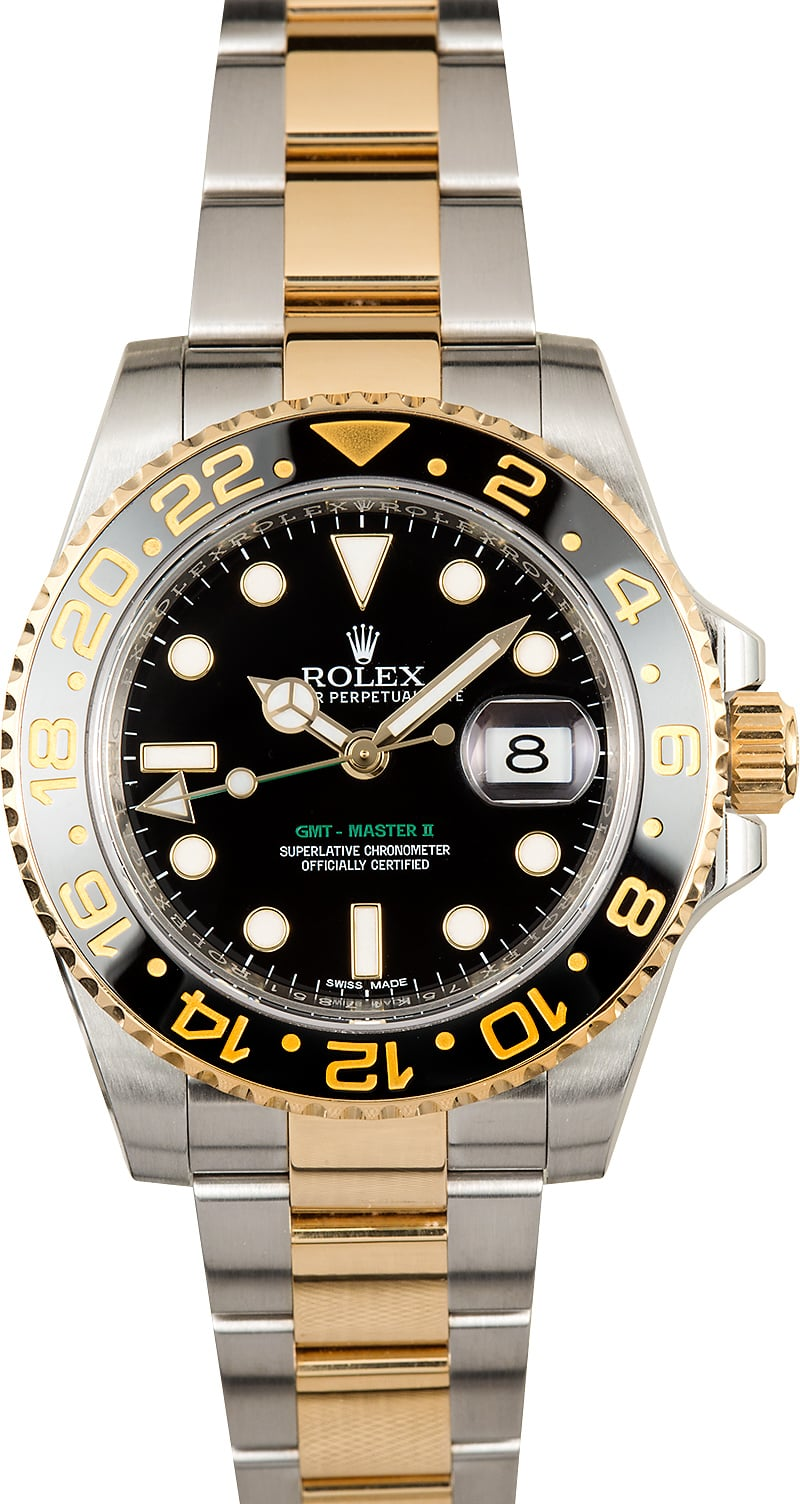 Rolex gmt master ii steel and gold 116713 certified pre owned for Rolex gmt master