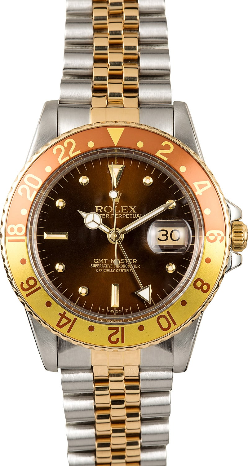 Used Breitling Watches >> Rolex GMT-Master Root Beer 16753