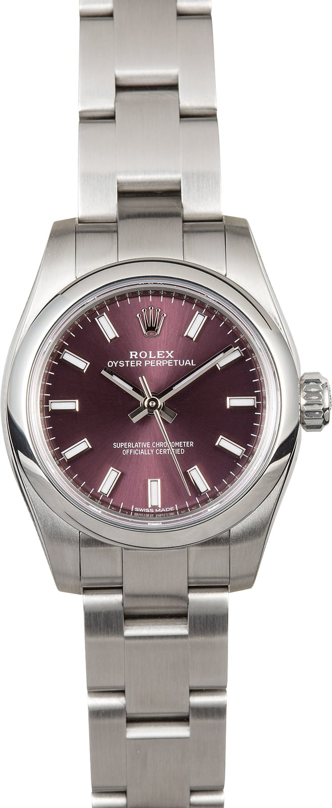 cb380042a67 Rolex Lady Oyster Perpetual 176200 Red Grape Dial