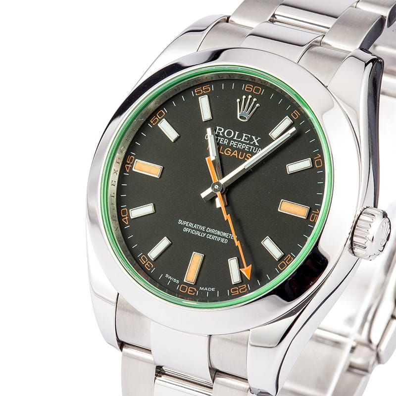 Rolex Milgauss Green Dial Steel Case 116400 GV - On Sale