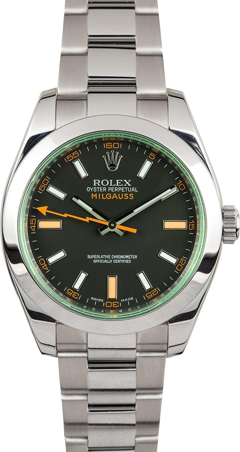 Rolex milgauss black 116400gv for Rolex milgauss