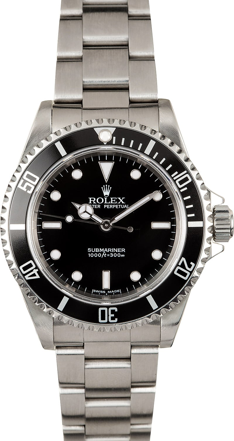 rolex no date submariner 14060 certified pre owned. Black Bedroom Furniture Sets. Home Design Ideas