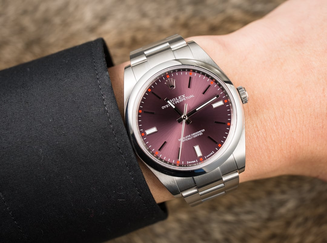 dac64aa847df6 Rolex Oyster Perpetual 39MM 114300 Red Grape