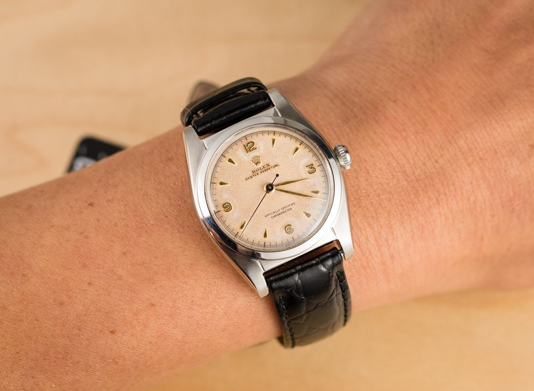 Vintage rolex oyster perpetual bubbleback 6050 for Vintage rolex oyster