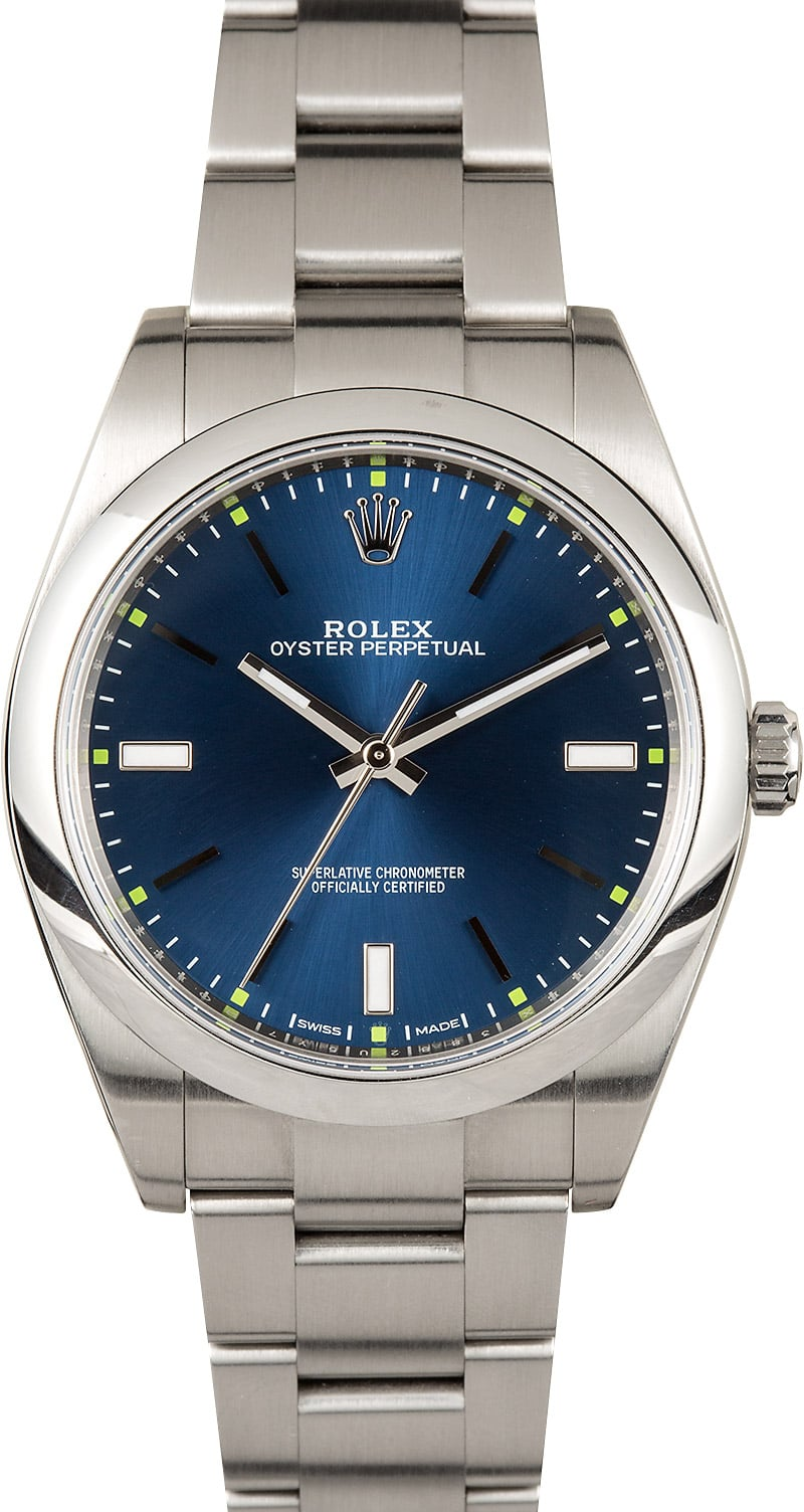 cb397df0ee07 Here are similar in stock watches you might like. Rolex Oyster Perpetual 39  Blue 114300