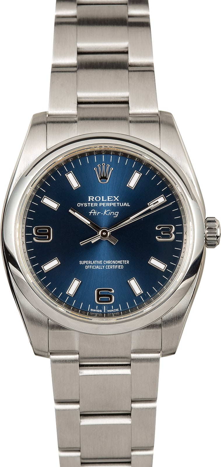 5c0c4105e60 Rolex Oyster Perpetual Air King 114200 Blue Dial