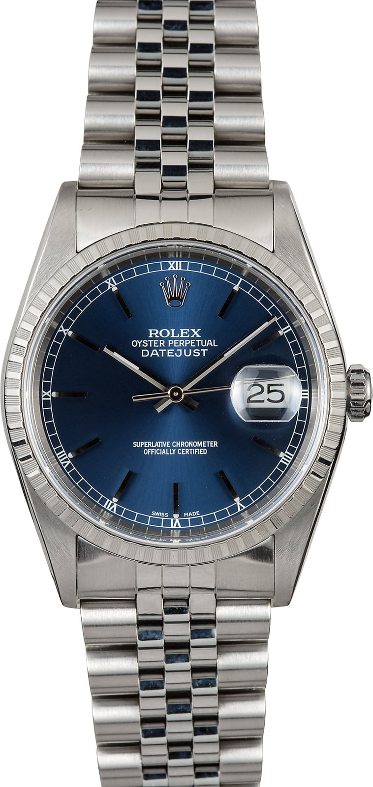 rolex oyster perpetual datejust 16220 steel. Black Bedroom Furniture Sets. Home Design Ideas