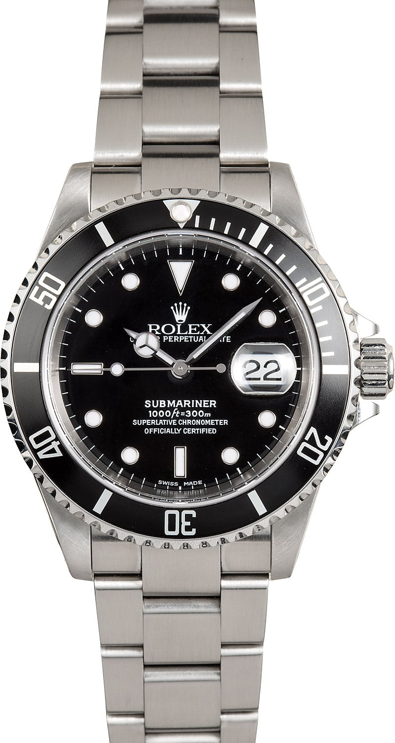 rolex oyster perpetual stainless submariner 16610. Black Bedroom Furniture Sets. Home Design Ideas