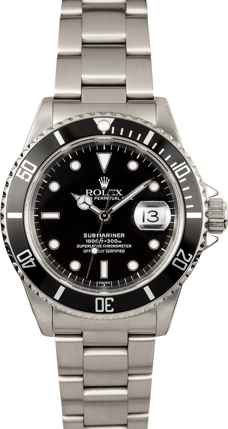 rolex oyster perpetual submariner 16610 black
