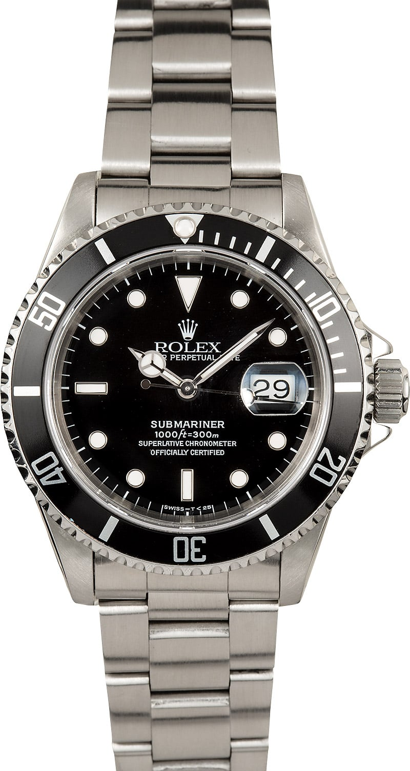 rolex oyster perpetual submariner 16610 steel. Black Bedroom Furniture Sets. Home Design Ideas