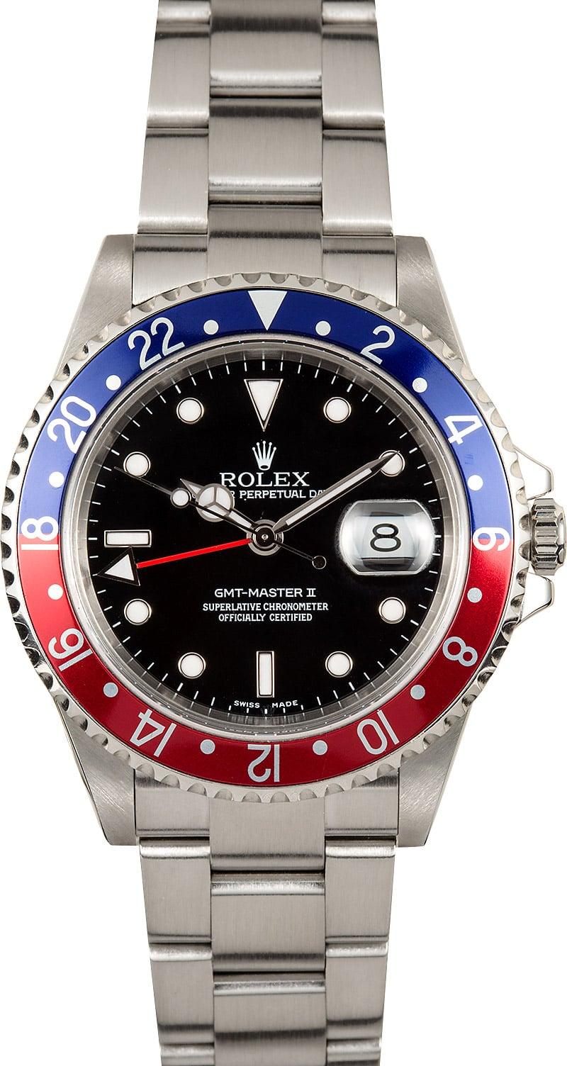 Rolex pepsi gmt master ii 16710 no holes case for Rolex gmt master