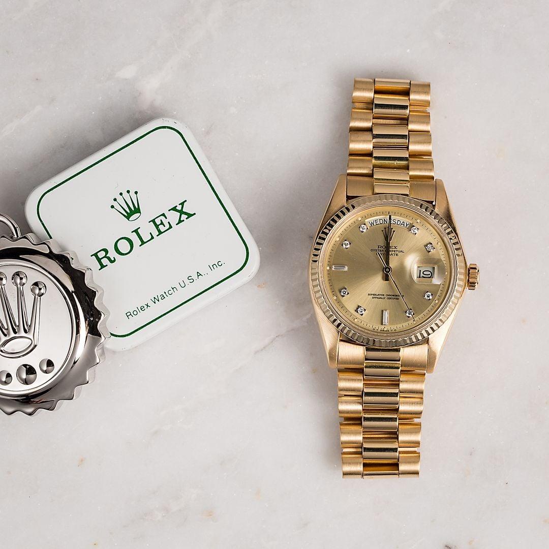 Vintage Rolex President 1803 Diamond Dial