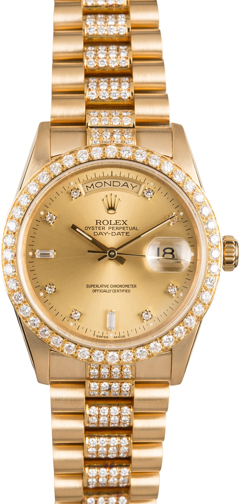 Rolex Presidential Diamond Day,Date 18348