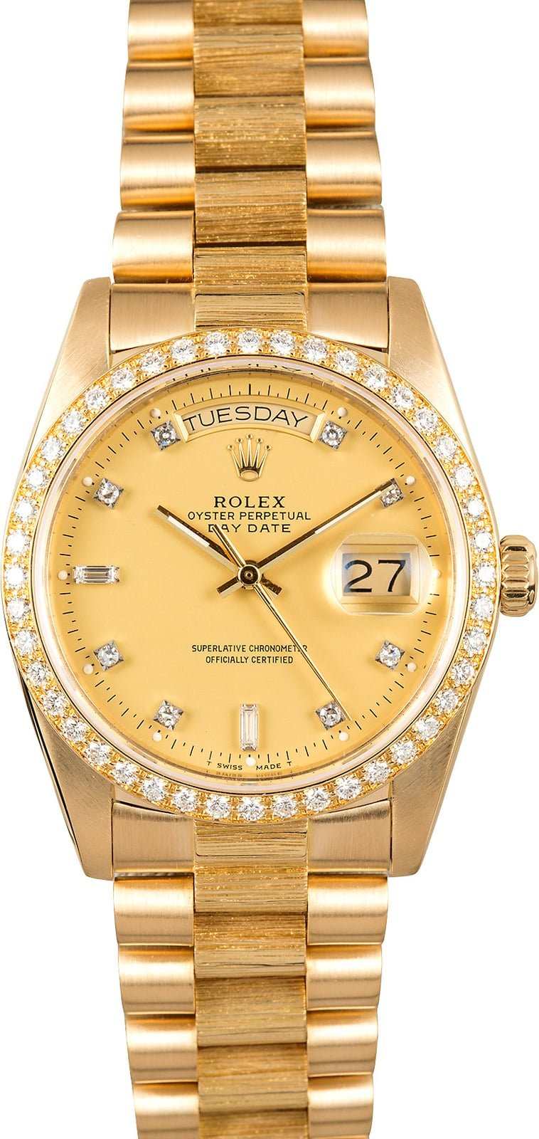 Rolex President Bark 18078 Diamond Dial and Bezel