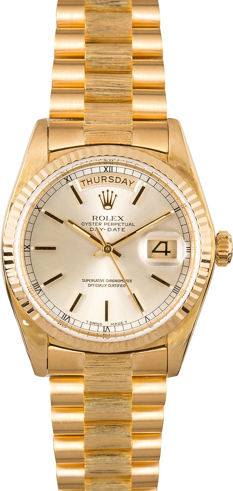 Used Rolex Daytona >> Rolex President Day-Date 18078 Bark Accents