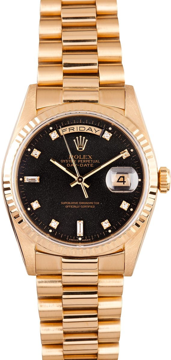 Rolex President Gold Day-Date 18238 Diamond Dial - Save 35%