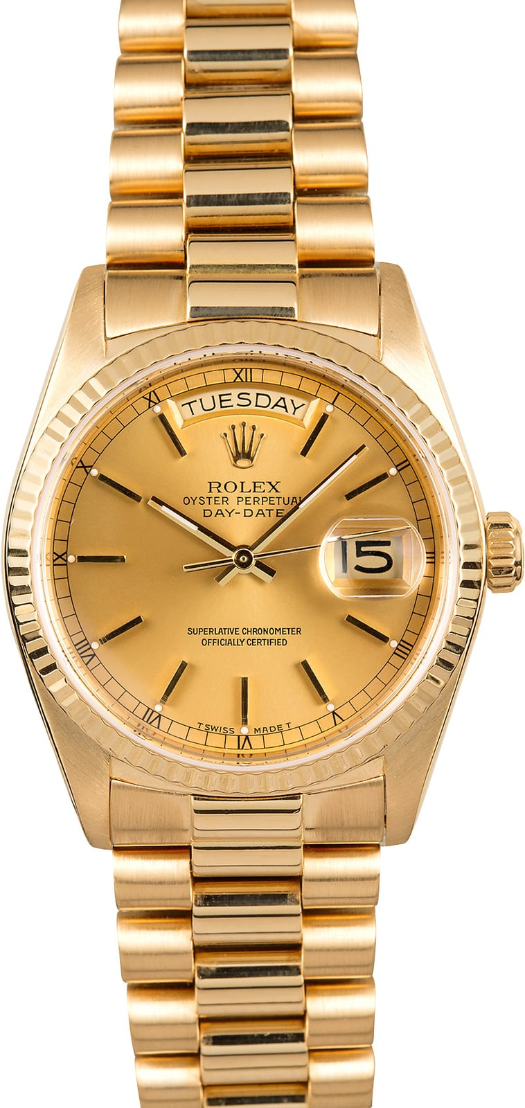Rolex Presidential Yellow Gold Day-Date 18038