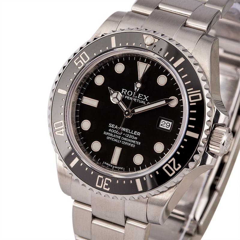 a3e55c30237 Buy Used Rolex Sea-Dweller 116600BKSO | Bob's Watches - Sku: 126235