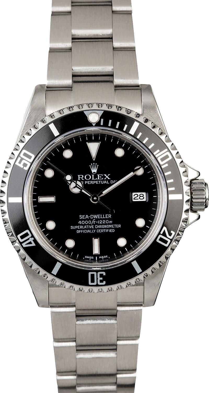 Men 39 s preowned rolex sea dweller 16600 for Rolex sea wweller