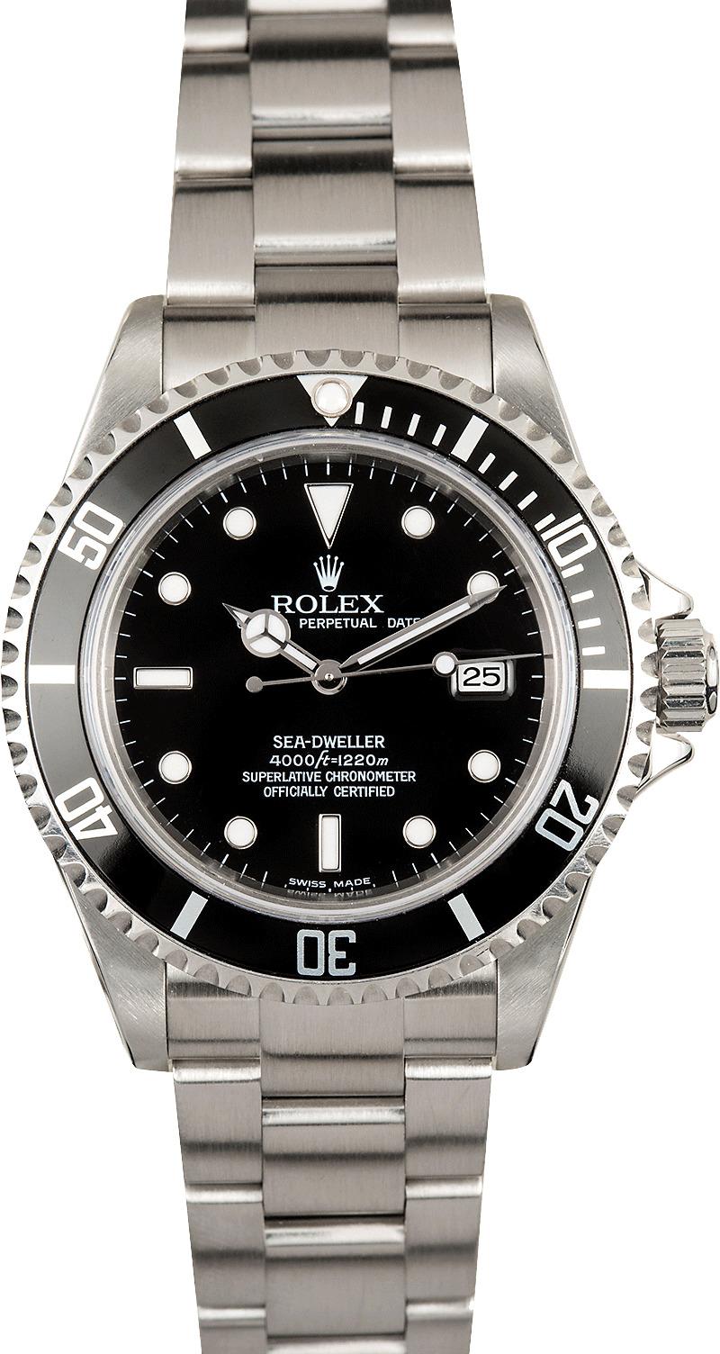 Rolex sea dweller 16600t black dial for Rolex sea wweller