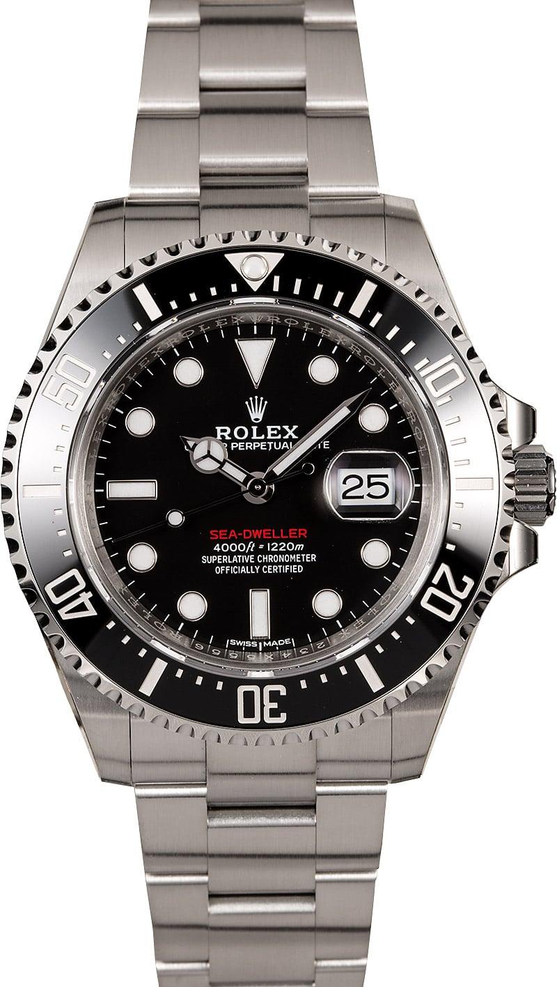 Rolex sea dweller 126600 black ceramic bezel for Rolex sea wweller