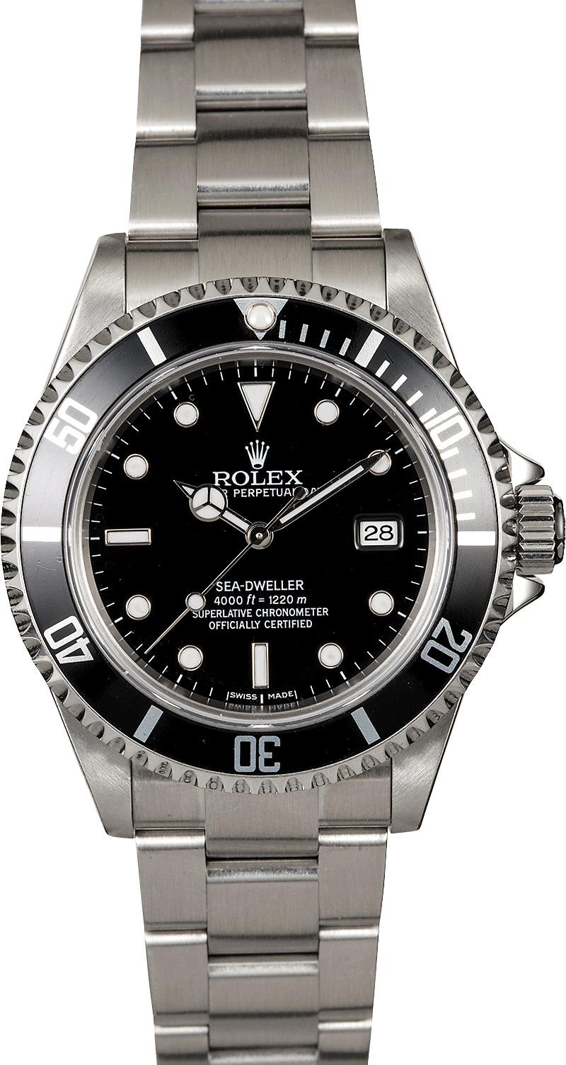 Rolex sea dweller 16600 black dial men 39 s watch for Rolex sea wweller