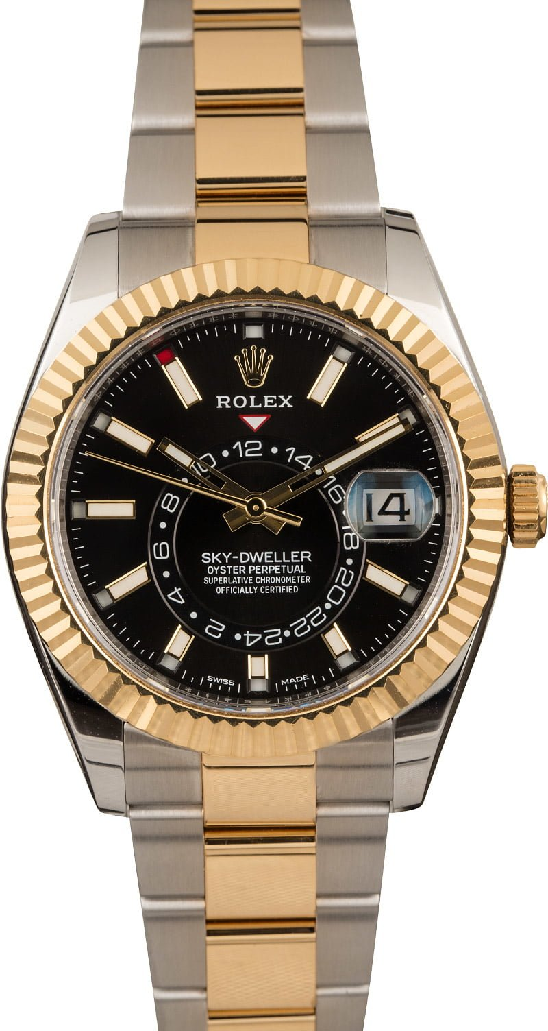 Used Rolex Sky,Dweller 326933 Black Dial Two Tone Oyster