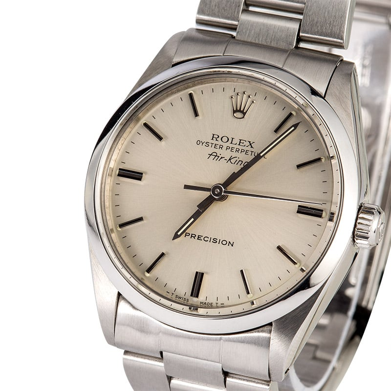Rolex steel air king 5500 for Rolex air king