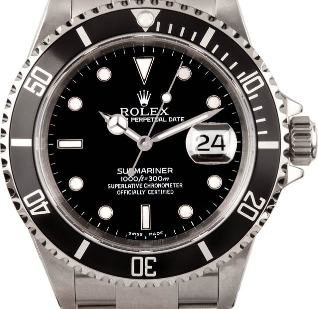Used Rolex Submariner Watch 16610 Bob S Watches