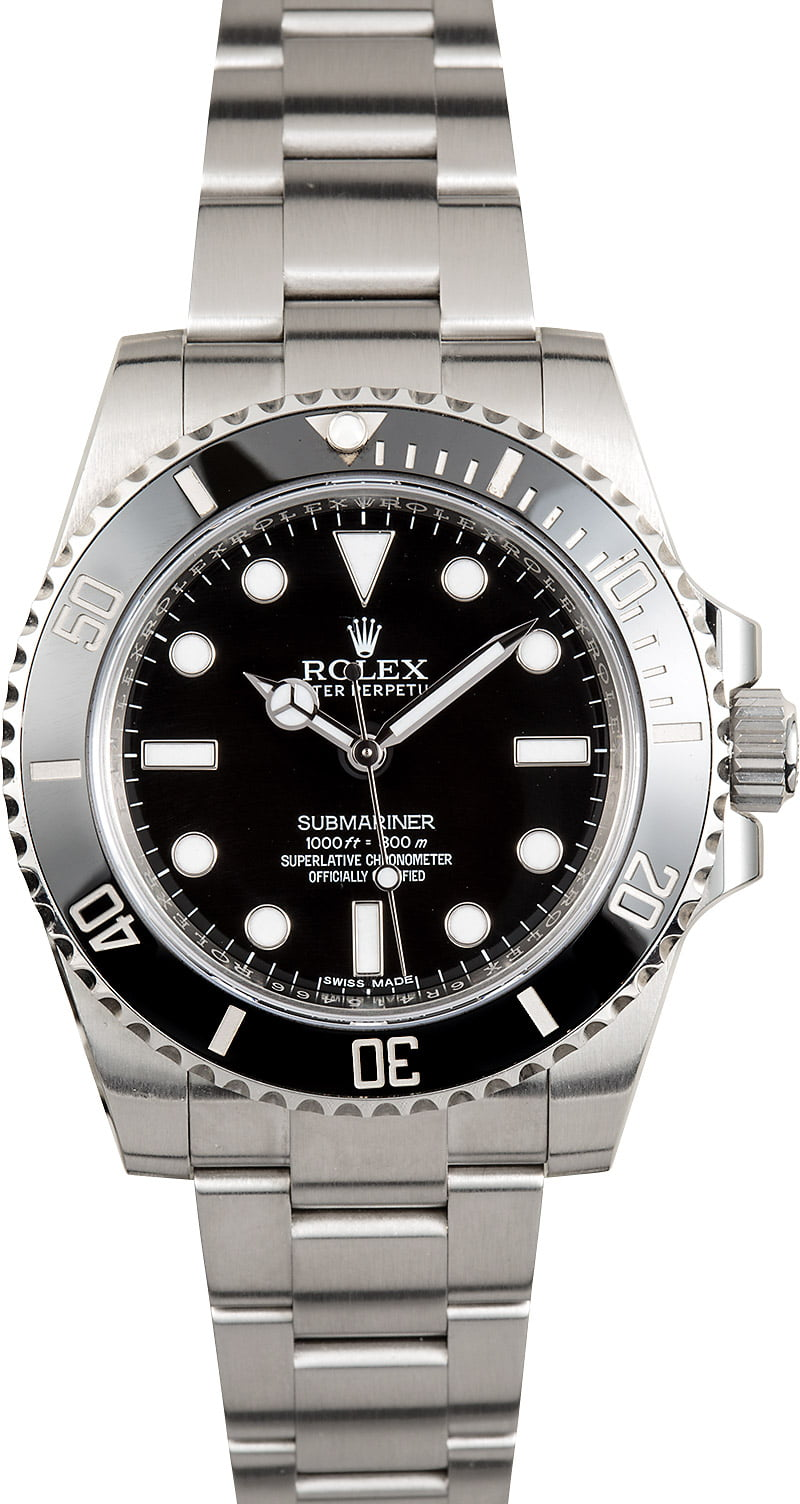 preowned rolex submariner 114060 steel watch. Black Bedroom Furniture Sets. Home Design Ideas
